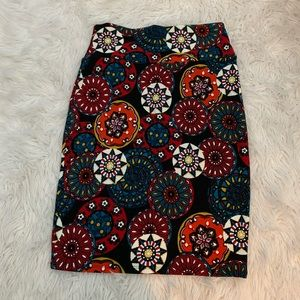 LuLaRoe Cassie Skirt - multi color - Size small